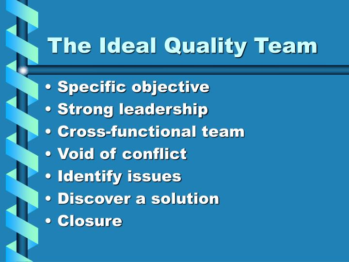The Ideal Quality Team