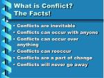 what is conflict the facts