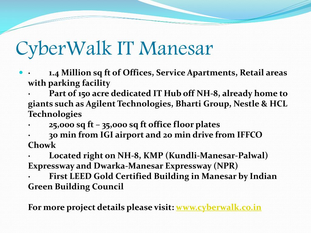CyberWalk IT Manesar