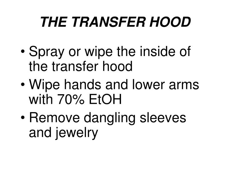THE TRANSFER HOOD