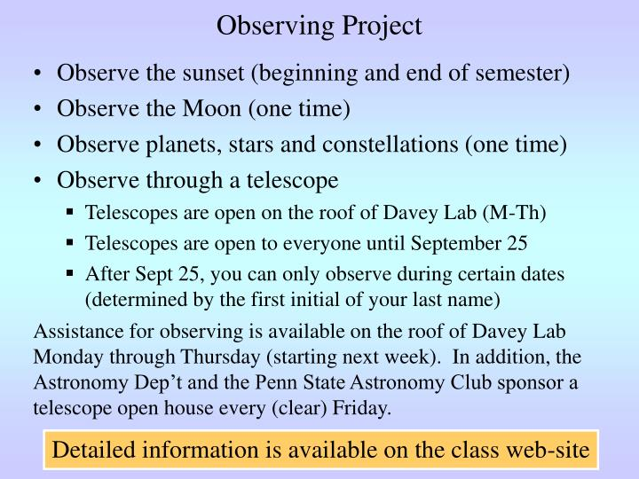 Observing Project