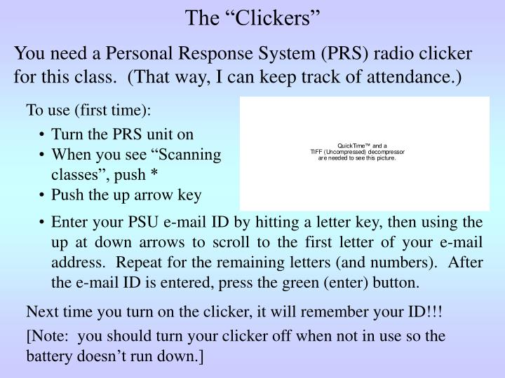 "The ""Clickers"""