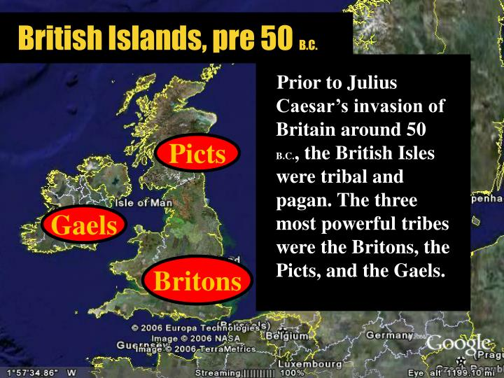 British islands pre 50 b c