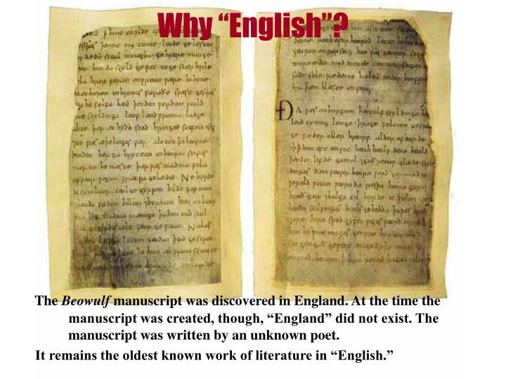 "Why ""English""?"