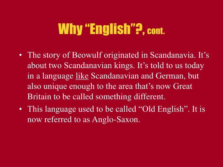 "Why ""English""?,"