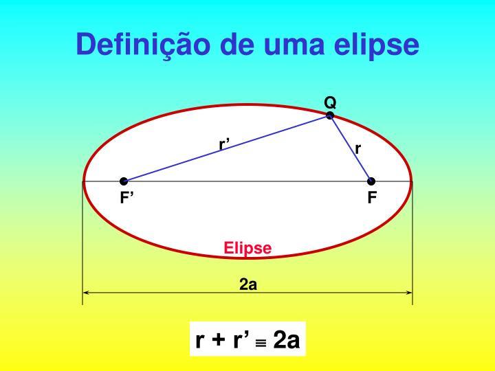 Definição de uma elipse