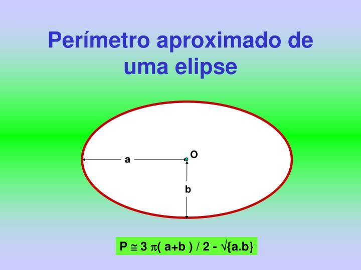 Perímetro aproximado de uma elipse