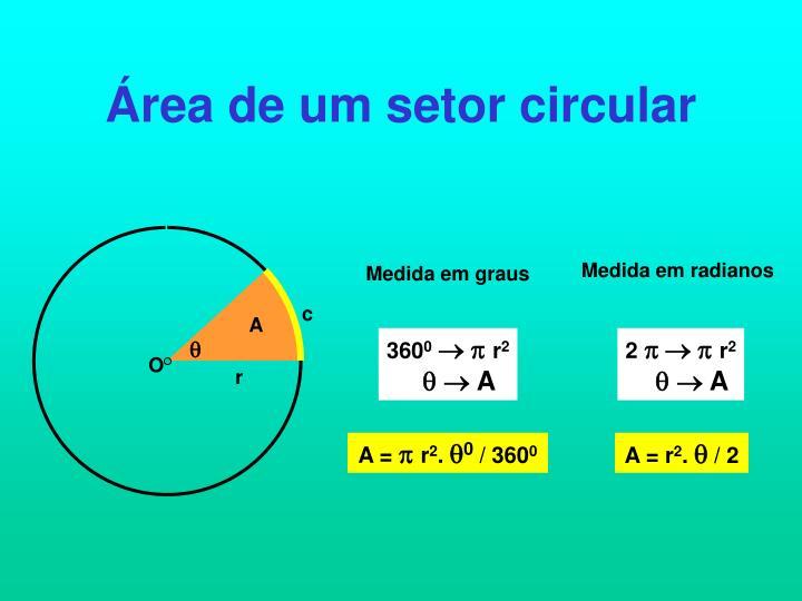 Área de um setor circular