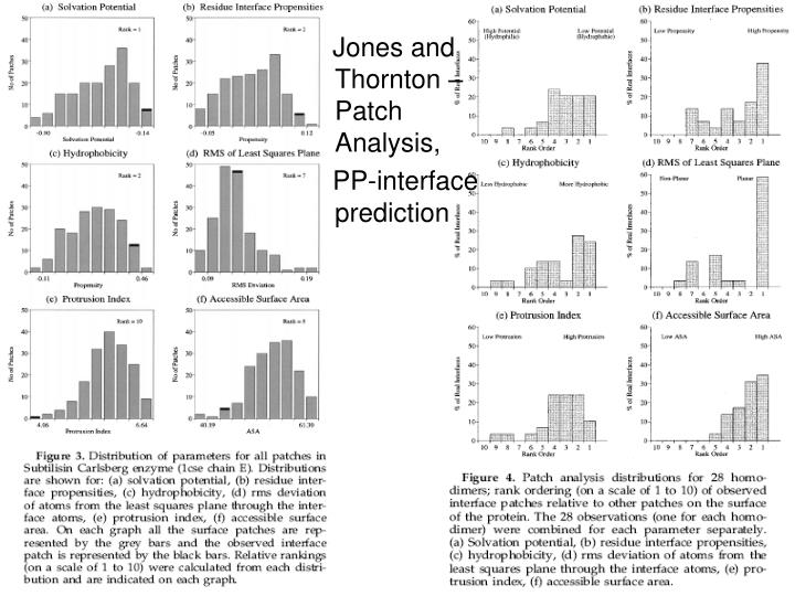Jones and Thornton – Patch Analysis,