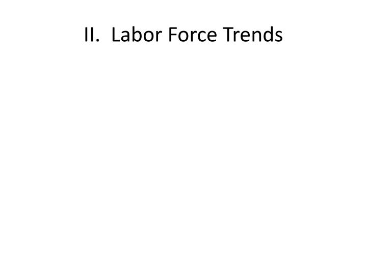 II.  Labor Force Trends