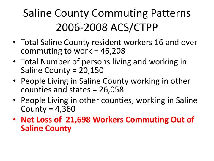 Saline County Commuting Patterns 2006-2008 ACS/CTPP
