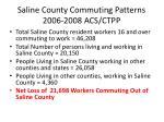 saline county commuting patterns 2006 2008 acs ctpp