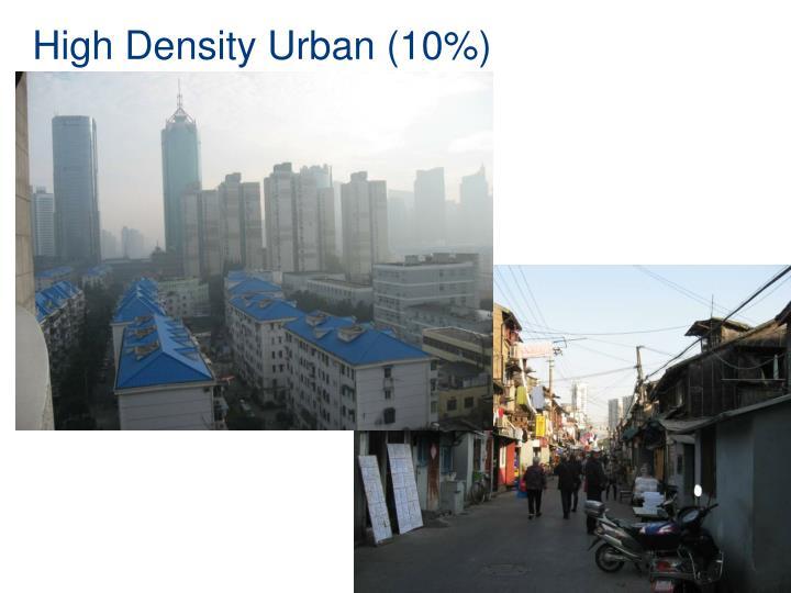High Density Urban (10%)