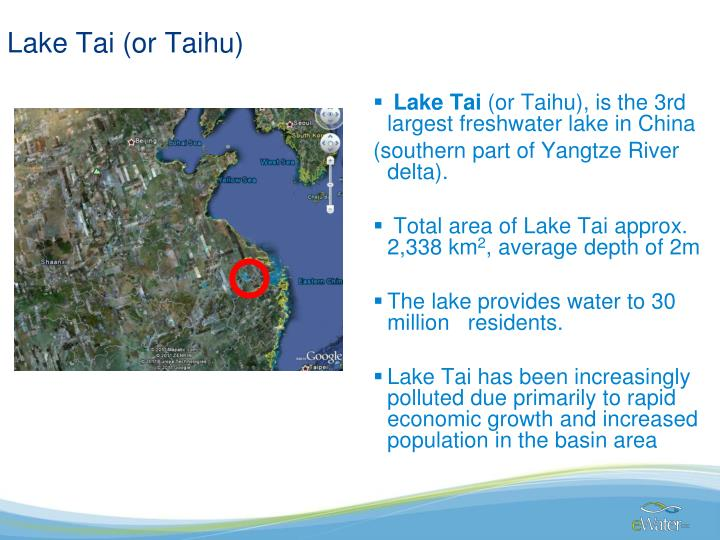 Lake Tai (or Taihu)