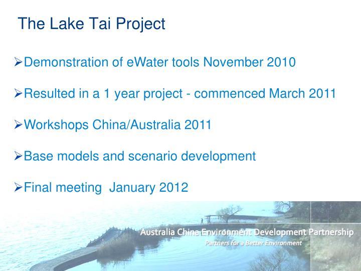The Lake Tai Project