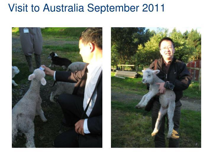 Visit to Australia September 2011