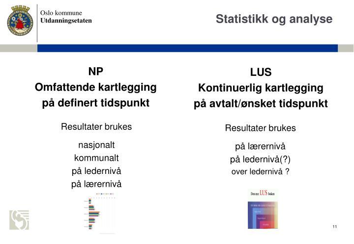 Statistikk og analyse