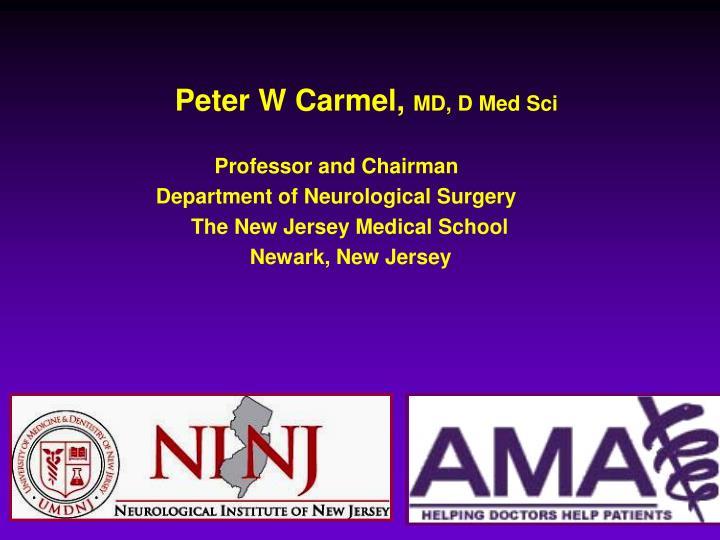 Peter W Carmel,