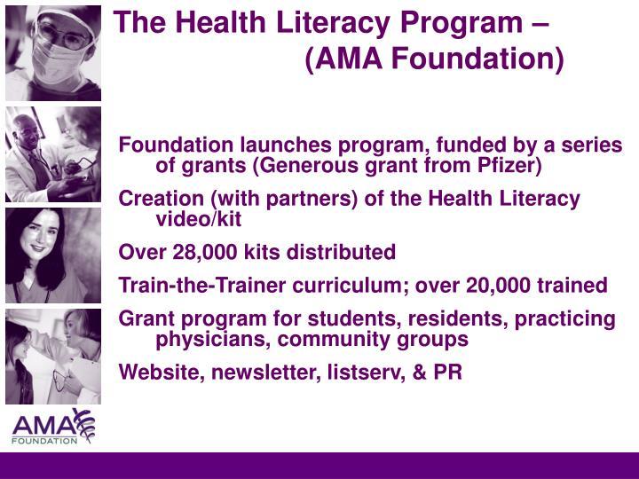 The Health Literacy Program – (AMA Foundation)