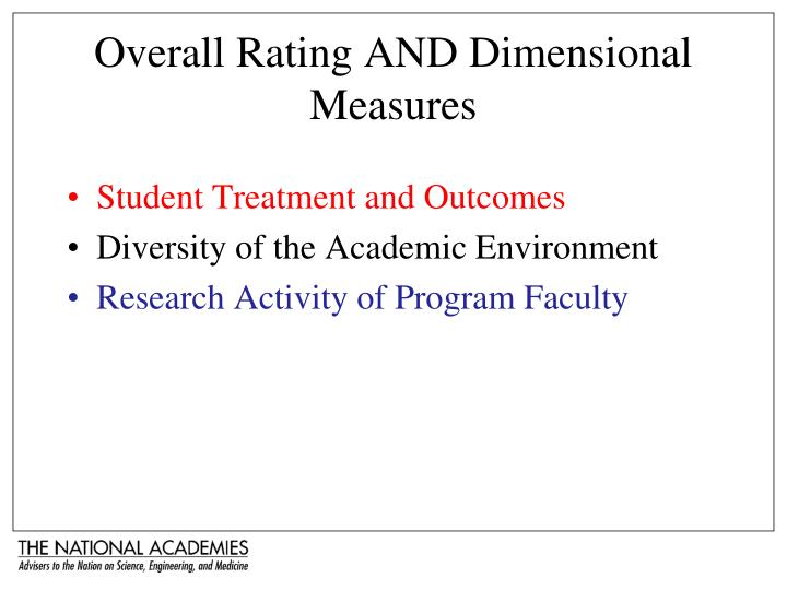 Overall Rating AND Dimensional Measures