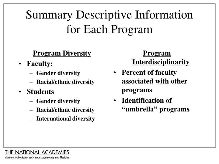 Program Diversity