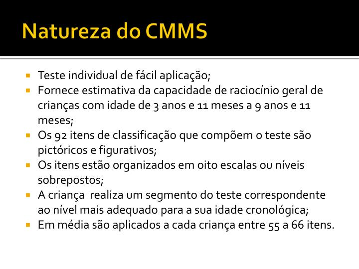 Natureza do CMMS