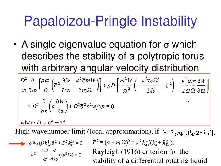 Papaloizou-Pringle Instability