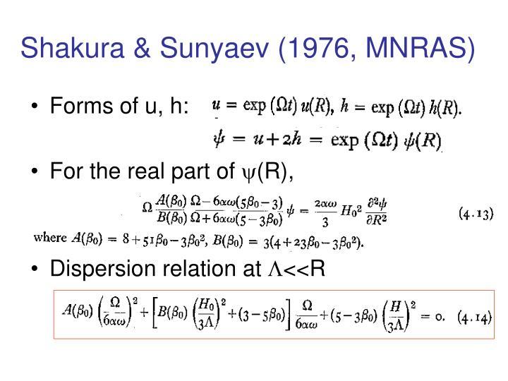 Shakura & Sunyaev (1976, MNRAS)