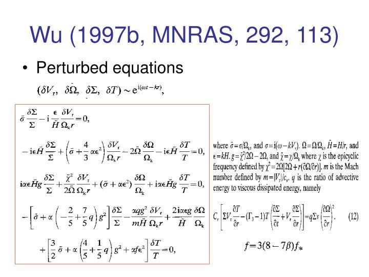 Wu (1997b, MNRAS, 292, 113)