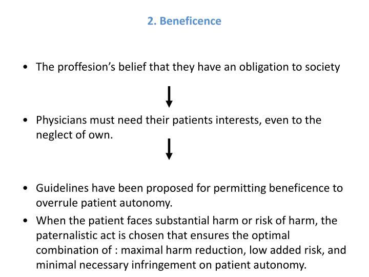 2. Beneficence