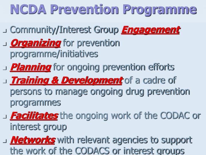 NCDA Prevention Programme