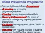 ncda prevention programme
