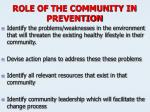 role of the community in prevention