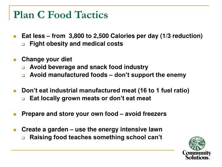Plan C Food Tactics