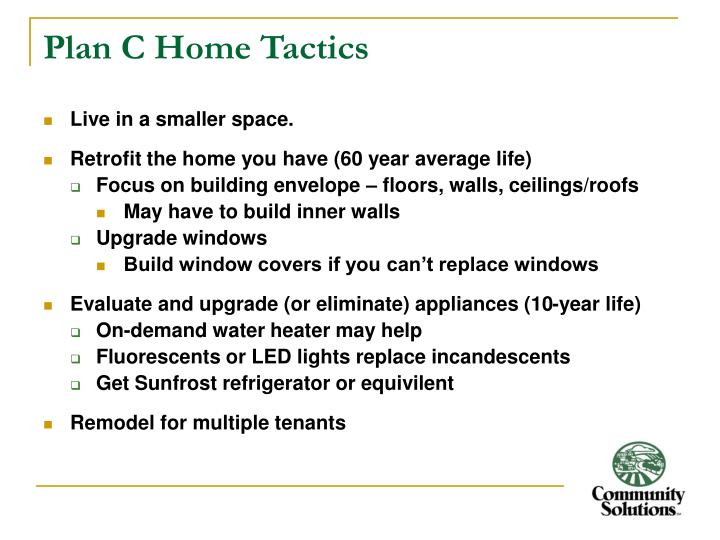 Plan C Home Tactics