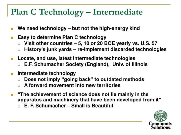 Plan C Technology – Intermediate