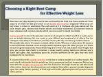 choosing a right boot camp for effective weight loss