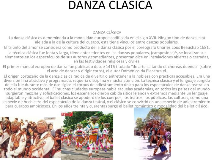 DANZA CLÀSICA