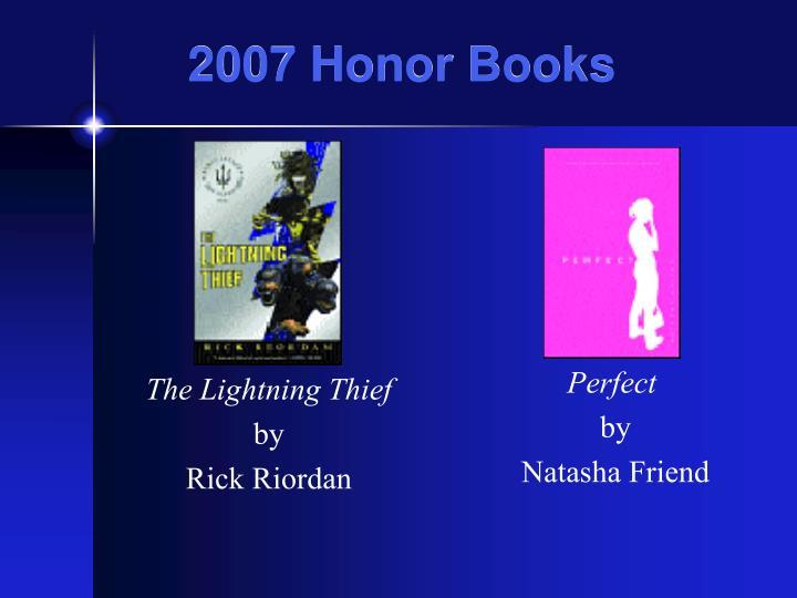 2007 Honor Books