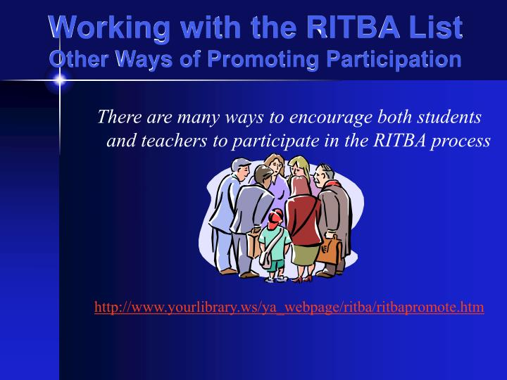 Working with the RITBA List