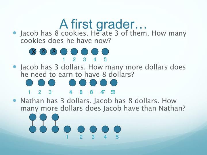 A first grader…