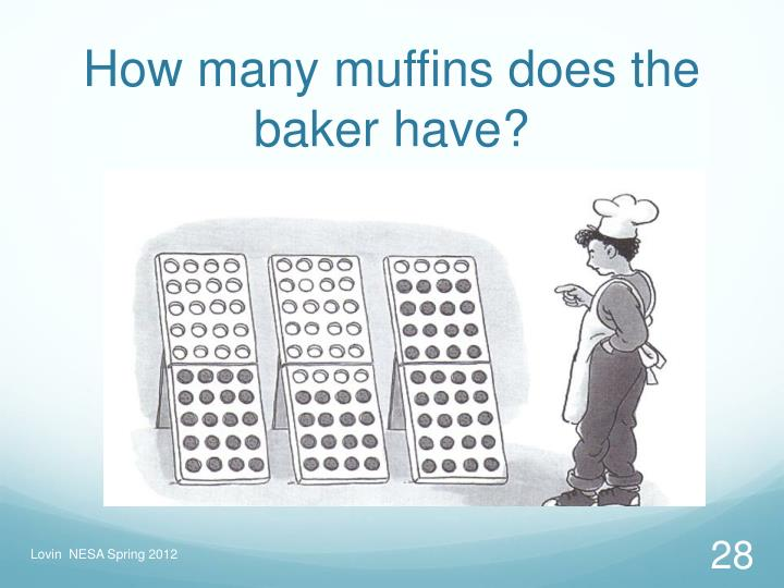 How many muffins does the baker have?