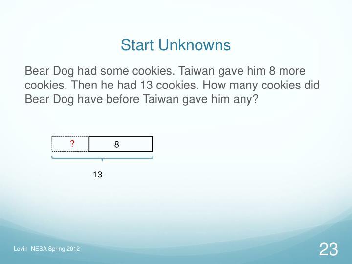 Start Unknowns