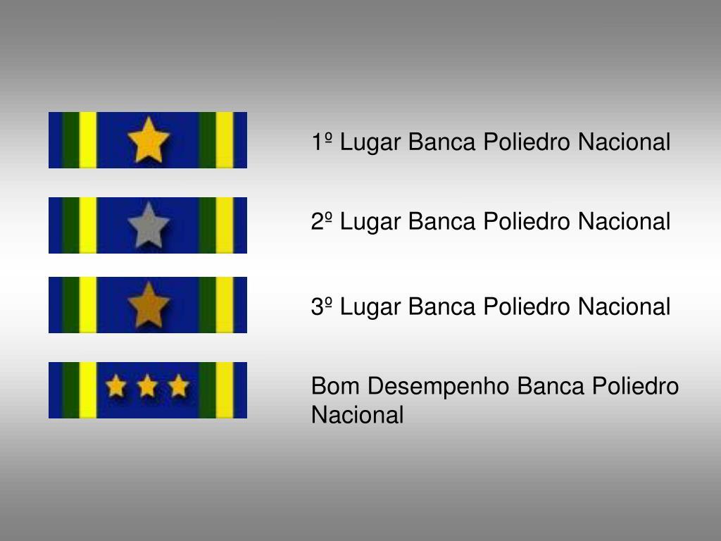 1º Lugar Banca Poliedro Nacional