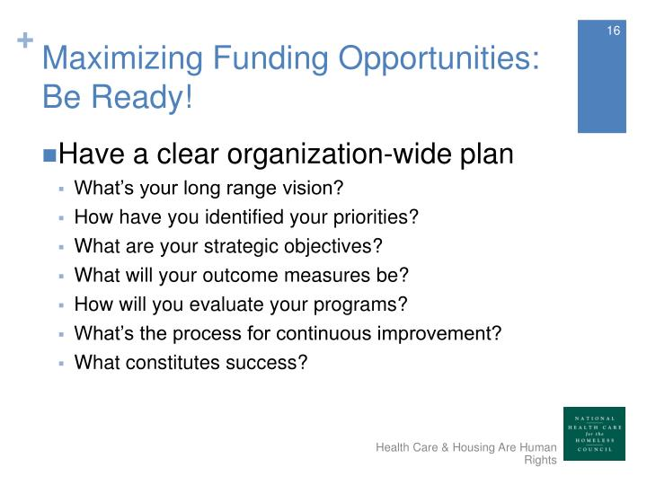 Maximizing Funding Opportunities: