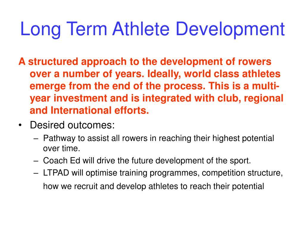 Long Term Athlete Development