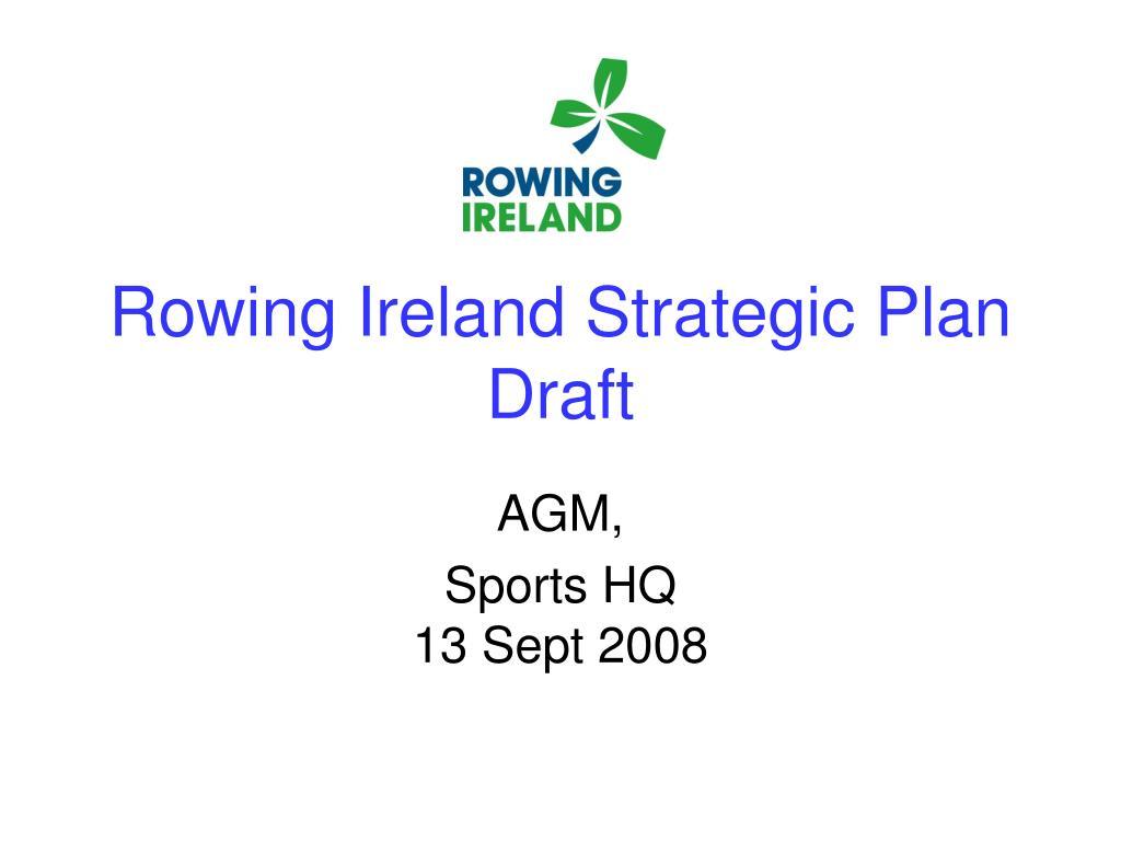Rowing Ireland Strategic Plan