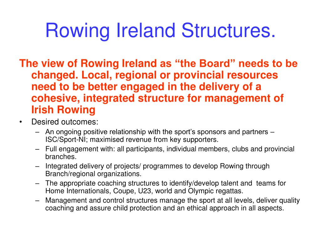 Rowing Ireland Structures.
