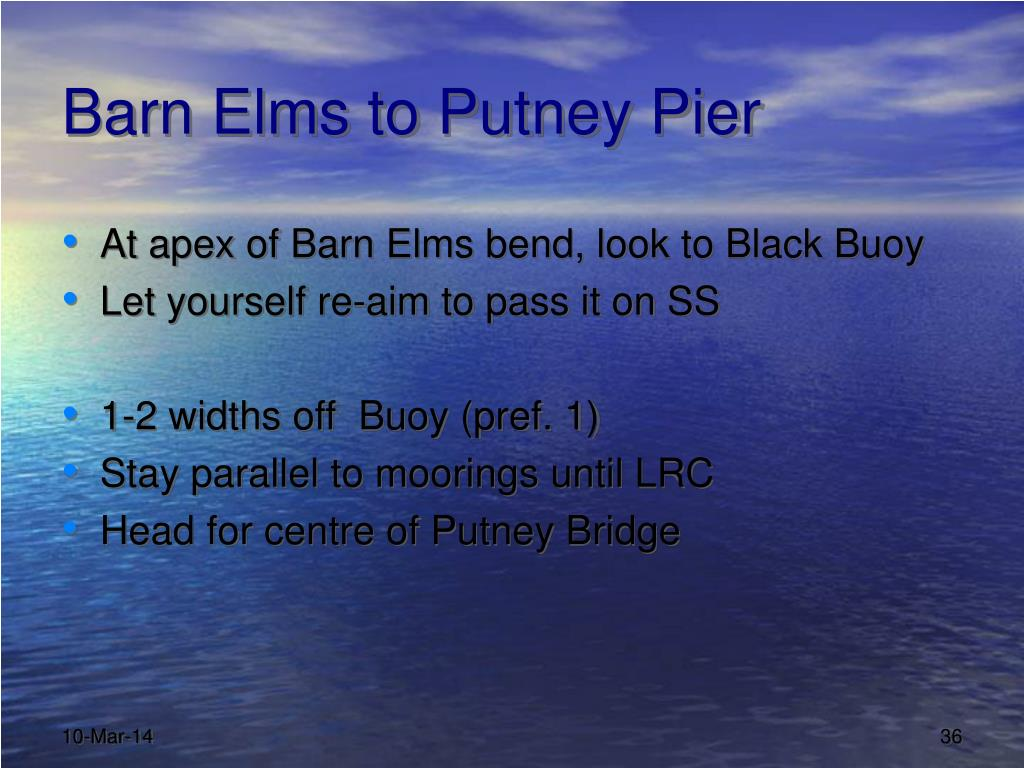 Barn Elms to Putney Pier