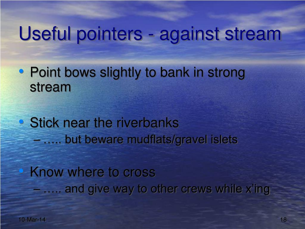 Useful pointers - against stream
